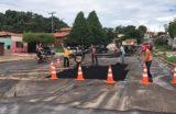 Mesmo com as fortes chuvas prefeitura  dá início à operação Tapa-buracos