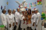 Comemoração da páscoa no Hospital Infantil Dr. João Viana