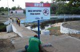 Piscina do bairro Ponte é sinalizada pela Secretaria de Meio Ambiente e Defesa Civil
