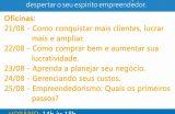 Sala do Empreendedor realiza oficinas de capacitação entres os dias 21 a 25 de agosto