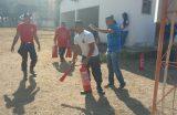 Guarda Municipal recebe treinamento para o manuseio de extintores de incêndio