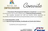 Secretaria de Indústria e Comércio realizará o Natal do Empreendedor
