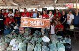Projeto SAMU Solidário leva alimentos e roupas às famílias atingidas pelas enchentes no povoado Riachão
