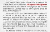 Prefeito Fábio Gentil decreta Situação de Emergência no município de Caxias por conta das fortes chuvas